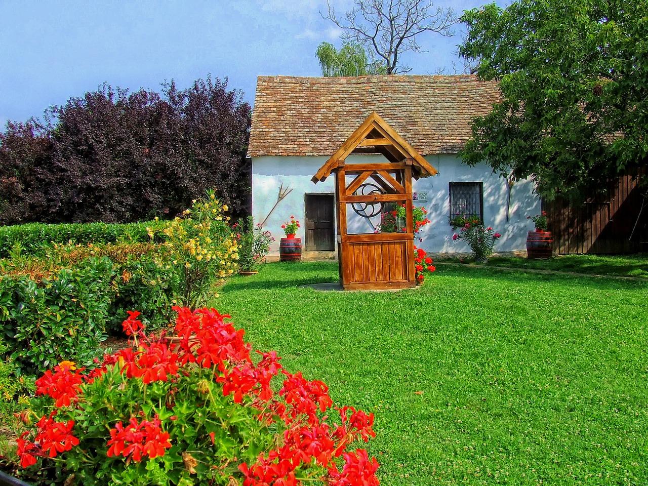 деревенский дом колодец Чехия